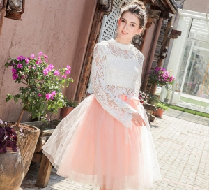 Women's A Line Tulle Prom Party Skirt